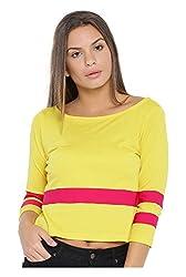VeaKupia Women's Top (3001--XL, Yellow, X-Large)