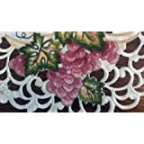 34 Square or Table Topper with Red Purple Grapes by Doily Boutique