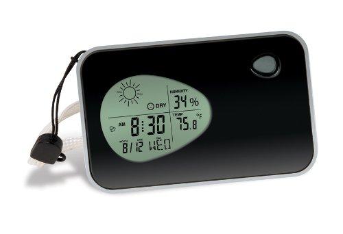 Smartworks Mini Travel Size Weather Station Alarm Clock Key Holder