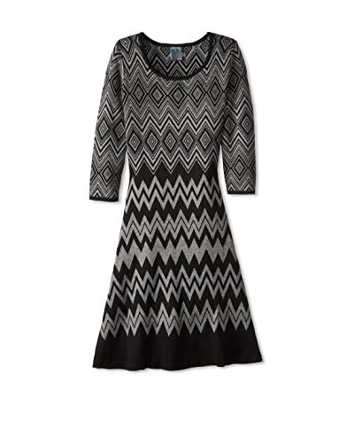 Gabby Skye Women's Jacquard Sweater Dress