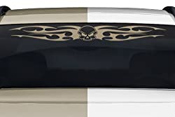 See Sticky Creations - Design #156-01 Skull Tribal Flame Wings Windshield Decal Sticker Vinyl Graphic Rear Window Banner Tailgate Car Truck SUV Van Go Cart Boat Trailer | 36
