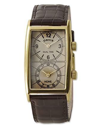 Orvis Men's Transworld Dual-time Watch, Natural