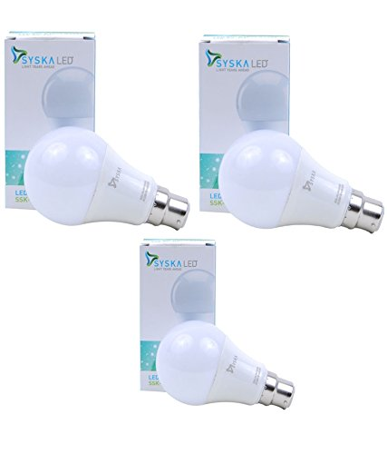 Syska-PA-7W-LED-Bulbs-(White,-Pack-of-3)