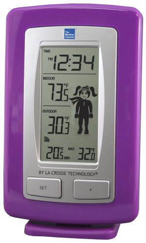 La Crosse Technology The Weather Channel WS-9782TWC-IT-TBP Wireless Thermometer with Weather Girl