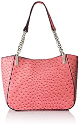 Emilie M. Nancy Ostrich Chain Handle Shoulder Bag, Melon, One Size