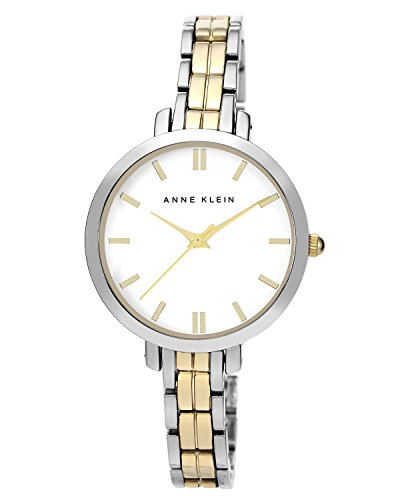 Anne Klein Women'S Ak/1447Svtt Everyday Classics Two-Tone Thin Bracelet Watch