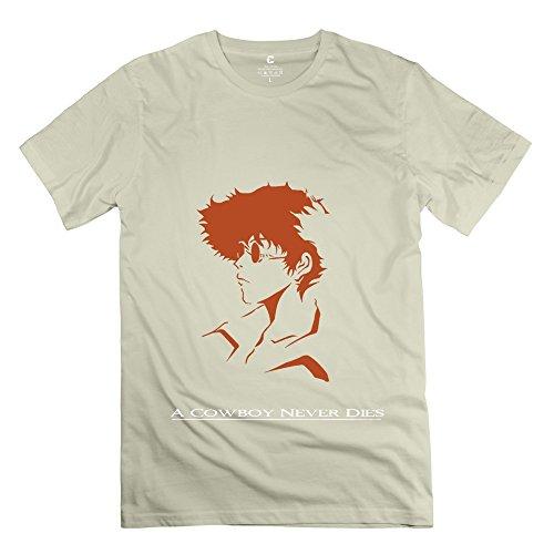 Men Cowboy Bebop T-Shirts Color Natural