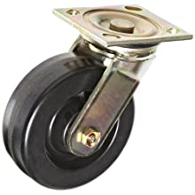 "E.R. Wagner Plate Caster, Swivel, Phenolic Wheel, Roller Bearing, 1200 lbs Capacity, 6"" Wheel Dia, 2"" Wheel Width, 7-1/2"" Mount Height"