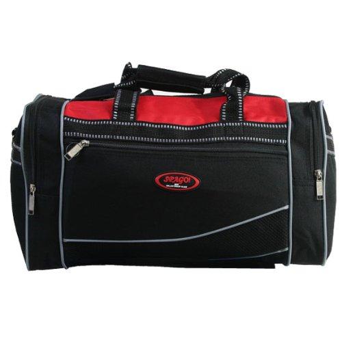Sporttasche Reisetasche 41 cm schwarz rot