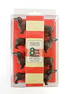 Charcoal Companion CC5009 Dog Corn Holders, Set of 4