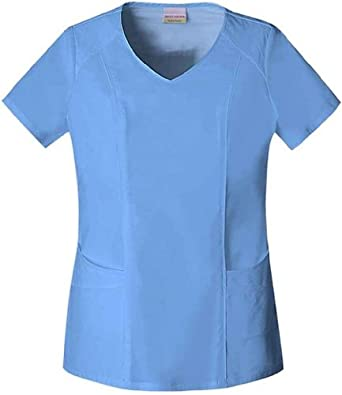 Skechers 25751 Women's V-Neck Scrub Top Ceil X-Small