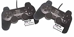 2 Pcs Quantum Gamepad Vibration PC Games USB Game Pad Joystick Dual Shock