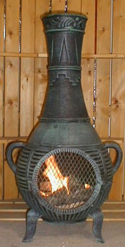 The-Blue-Rooster-Pine-Chiminea-in-Antique-Green