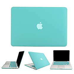 BeneU 3 in 1 Multi colors Rubberized Soft-Touch Plastic Hard Case Cover & Keyboard Cover & screen protector for Macbook Air Pro Retina (Macbook 13'' Air, Green)