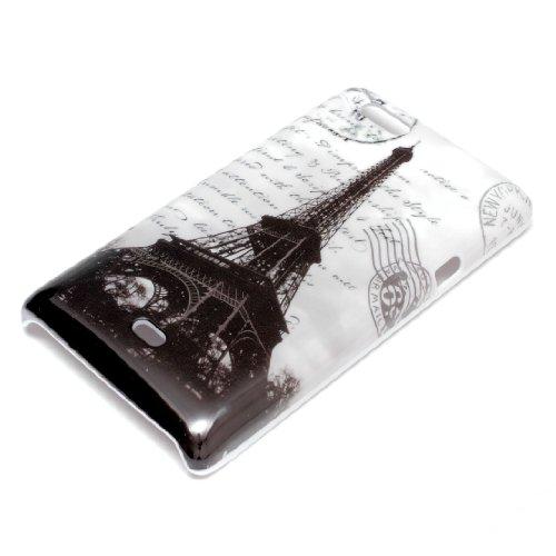 deinPhone Sony Xperia Miro ST23i HARDCASE Hülle Case Eiffelturm Schwarz Weiß
