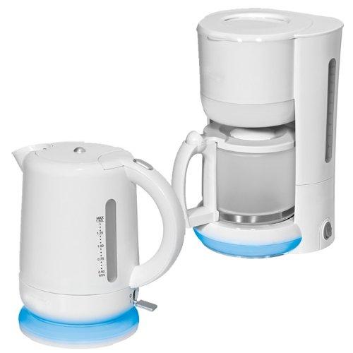 Kaffeemaschine Wasserkocher Bomann KA 1551 + WK 1552 weiss