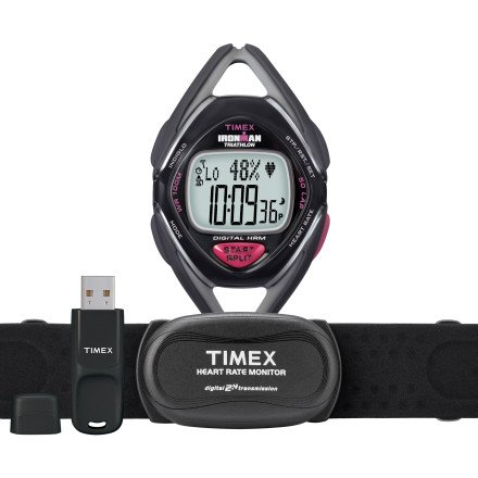 Cheap Timex Ironman Race Trainer Digital Heart Rate Monitor Kit – Mid-Size – Women's Black/Pink, One Size (T5K447)