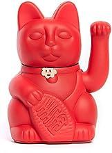 Gatete. El clásico Gato de la Suerte o la Fortuna o Maneki-Neko en divertidos colores. ROJO FRESA: