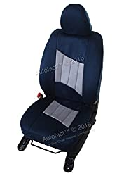 Autofact Brand Suede / Buff Velvet Car Seat Covers for Maruti Car 800 Old Model in Blue and Grey Combination