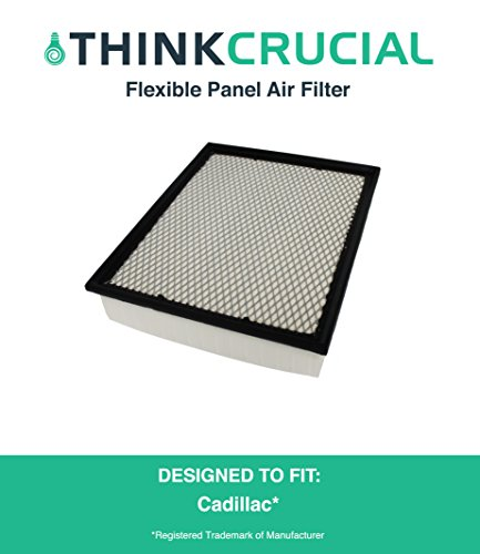 Premium Extra Guard Flexible Panel Air Filter, Part # A45315 & # CA8755A, Fits Cadillac, 1.57 x 5.92 x 13.5 in., by Think Crucial