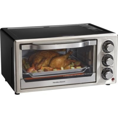 Hamilton Beach - 6-Slice Convection Toaster Oven/Broiler front-191156