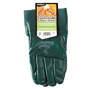 Magid Glove G195TL Lose Rose Handler Glove with Nitrile Coating, Green, Large (Discontinued by Manufacturer)