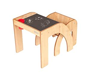 little helper fsmh01 5 funstation solo kleinkind tisch schreibtisch und stuhl set mit. Black Bedroom Furniture Sets. Home Design Ideas