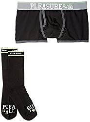 Diesel Men's Special Messages Trunk and Sock Gift Set, Pleasure Is All Yours, X-Large