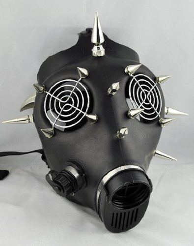 Cyber Industrial Gas Mask Rivet Rave Gothic War Club