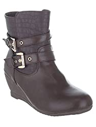 SHUZ TOUCH BROWN BOOT (SIZE-36)