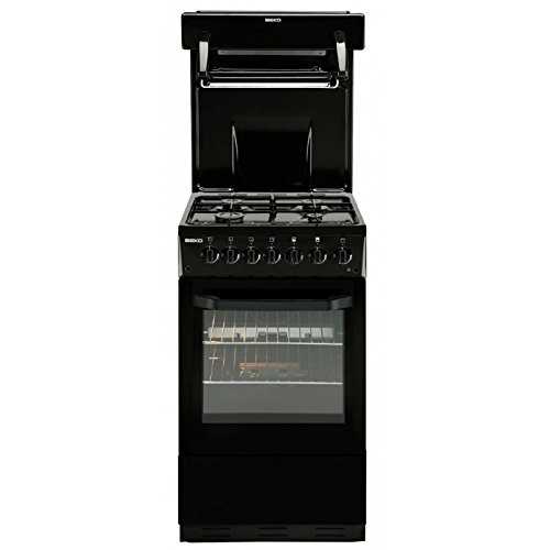 Beko BA52NEK Free Standing 50cm Single Cavity Gas Cooker Black New