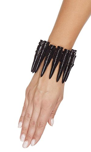 Sexy Bullet Wrist Cuff Halloween Accessory - Black - One Size
