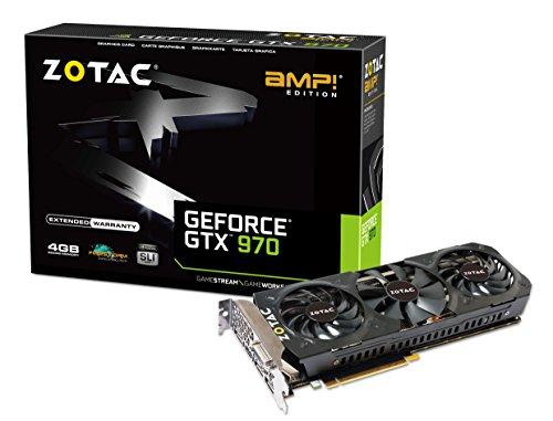 ZOTAC GeForce GTX 970 AMP Triple Fan 4GB DDR5 ZT-90110-10P 256bit AMP Edition PCI-E 3x DisplayPort ,DVI-I, HDMI Graphic Card