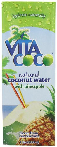 Vita Coco Natural Coconut Water with Pineapple 1 L (Pack of 4)