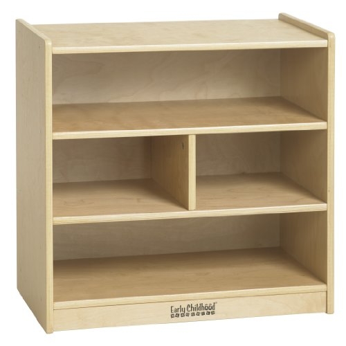 "Ecr4Kids Small Block Storage Cart, 24"", Natural front-854155"