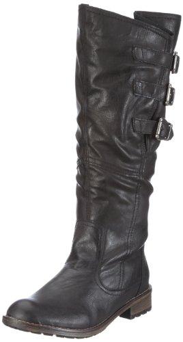 Remonte R3370 - Stivali da Equitazione Donna, Nero (asphalt / 01), 42 EU