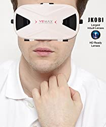 Blue Polarised Lenses Latest Version VR Headset Virtual Reality 3D Glasses Compatible For Sony Xperia X Premium -White