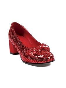 Ellie Shoes PL2214RD-L Red Sequin Shoes Adult LARGE by Ellie Shoes Inc