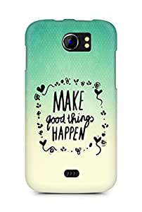 AMEZ make good things happen Back Cover For Micromax Canvas 2 A110
