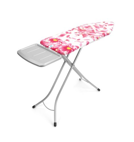 Brabantia 101380 Ironing Board with Solid Steam Unit Holder, 124 by 45cm, Pink Santini