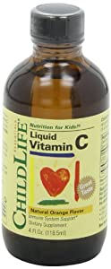 Child Life Liquid Vitamin C, Orange Flavor, Glass Bottle, 4-Ounce