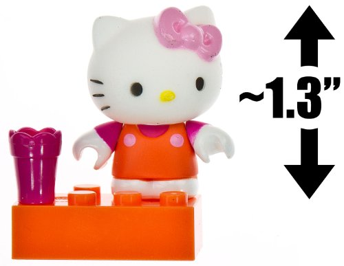 "Hello Kitty w/ a Flower Pot ~1.3"" Mini-Figure: The World of Hello Kitty Mega Bloks Figure Series [05]"