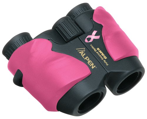 Alpen National Breast Cancer Foundation 8 X 25 Wide Angle Porro Prism Compact Binocular