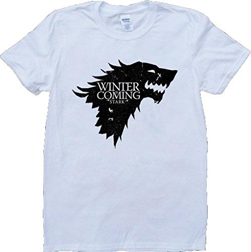 Juego-Of-Tronos-Casa-Stark-Invierno-Es-Viniendo-Blanco-Por-Encargo-T-Shirt
