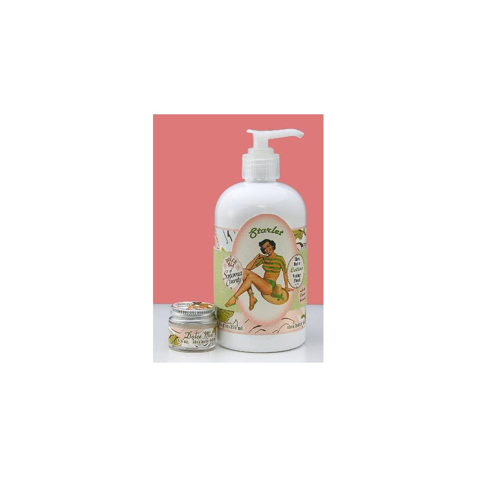 Dolce Mia Starlet Tuberose Shea Butter Natural Lotion With Organic botanicals 12 oz. Pump