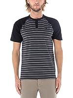 Nike Hurley Camiseta Manga Corta Dri-Fit La Cave Henley (Antracita)