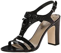 Via Spiga Women\'s Alec Dress Sandal, Black, 8 M US
