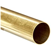 "Brass C260 Seamless Round Tubing, 1/8"" OD,0.097""ID, 0.014"" Wall, 12"" Length (Pack of 3)"
