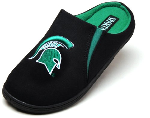 NCAA Michigan State Spartans Active Leisure Slippers, Black, Small at Amazon.com