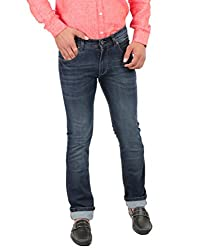 Oxemberg Men's Slim Fit Denim (HL6553_DARK BLUE_36)